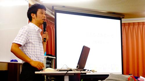 講義を行う徳山先生