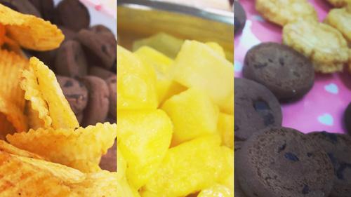お菓子、フルーツ・・・食欲をそそります♪