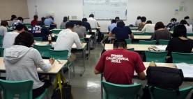 【授業紹介】社会福祉士養成科伝統の前期一斉定期試験