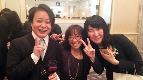 西村先生と宮里先生と卒業生☆