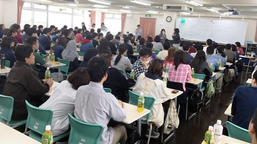 一番大きい教室は満席です!